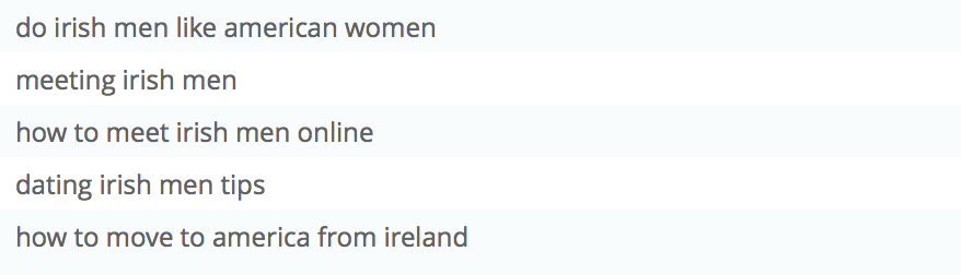 Irish American online dating